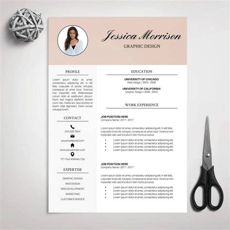 designer resume templates word resume template cv template for ms word cover letter professional resume modern resume