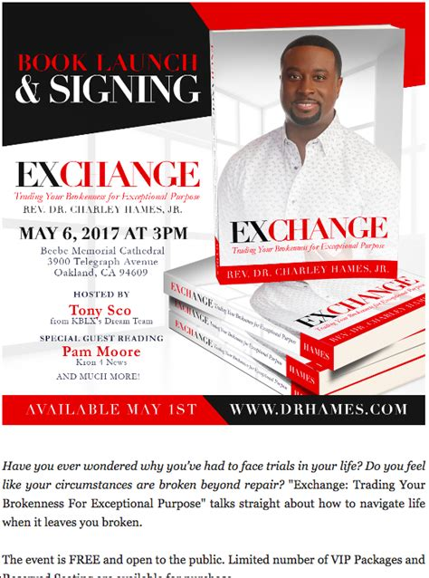 Exchange Book Launch Signing Theregistry Bay Area Book Launch Website Template