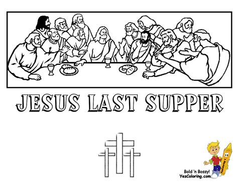 coloring page last supper lent easter on friday coloring pages and