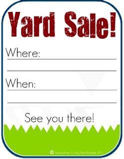 yard sales, camping sale and yard sale signs on pinterest