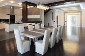 Nice Peinture Pour Meuble De Cuisine En Bois #14: Meubles-salle-manger-table-rectangulaire-chaises-cuir-blanc-neige.jpg