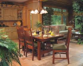 craftsman style dining room table mission style cherry dining furniture craftsman dining