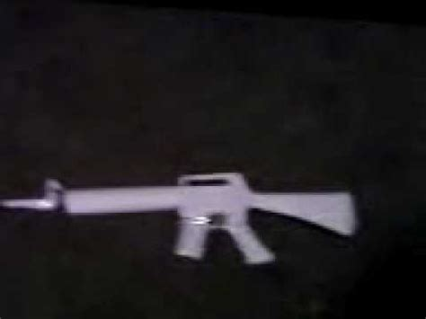 How To Make A Paper M16 - my paper m16