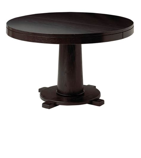 amish montclair single pedestal dining room table with