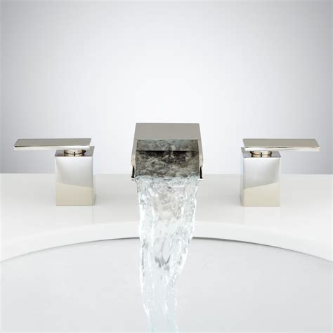 waterfall bathroom faucets willis widespread waterfall faucet bathroom