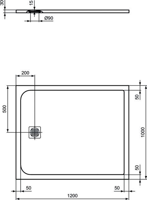 piatto doccia 100 x 120 dettagli prodotto k8232 piatto doccia effetto