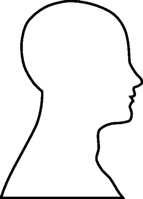 head outline template calendar picture templates