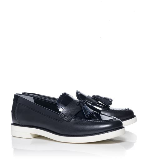 burch loafers burch careen loafer in blue navy lyst