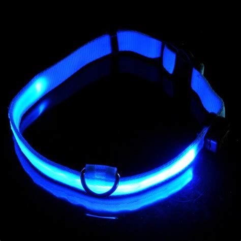 light up collar led pet light up safety collar blue hsmal1193 21 10 top airsoft
