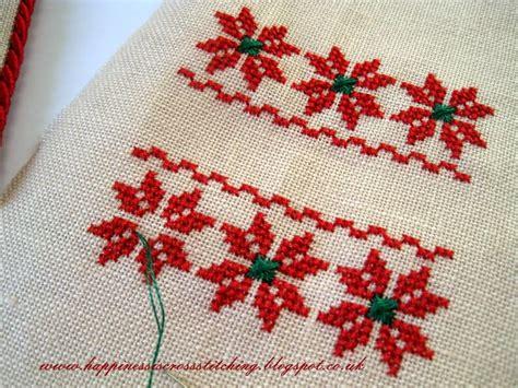 happiness is cross stitching flat fold christmas