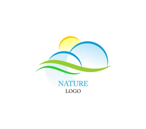 free nature logo design nature sun green sky inspiration vector logo design