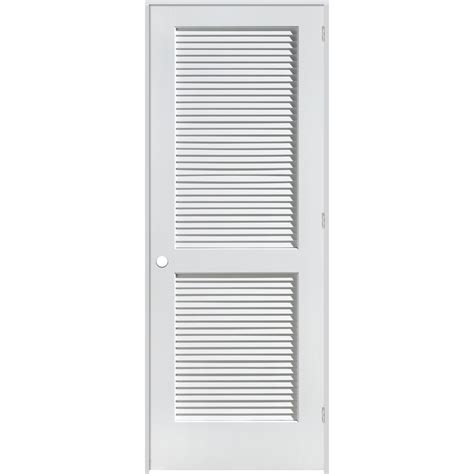 Interior Louvered Doors Lowes Shop Reliabilt Louvered Solid Pine Left Interior Single Prehung Door Common 28 In X 80 In