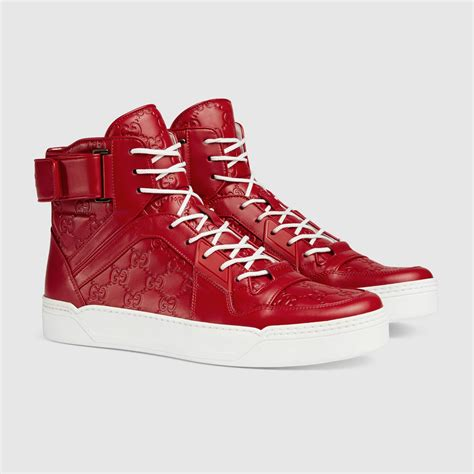 gucci high top sneakers for gucci gucci signature high top sneaker 431141cwd206433