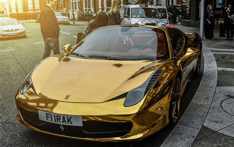cars ferrari gold chrome gold ferrari 458 spider one of the most unique