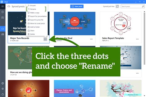 Renaming Your Prezi Classic Presentation Prezi Classic Support Prezi Classic Templates