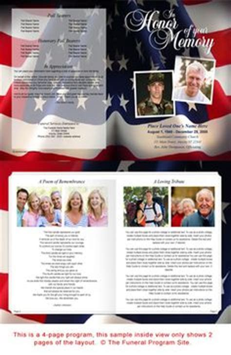 Free Funeral Program Templates Military Or Patriotic Funeral Program Template Created For Free Patriotic Funeral Program Template
