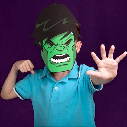 printable mask avengers hulk mask disney family