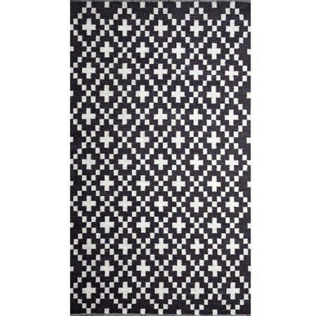 wildon home cross charcoal/natural white area rug