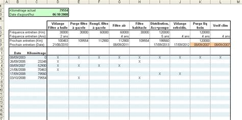 Modele Carnet De Bord Vehicule Excel