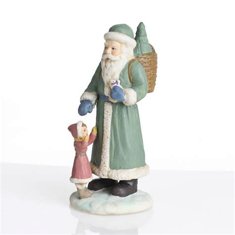 4 quot ceramic santa with child figurines set of 6