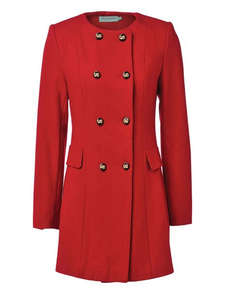 red swing coat almost famous swing coat in red lyst