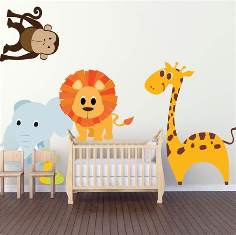 nursery wall decals animals nursery zoo wall decal animal wall decal murals