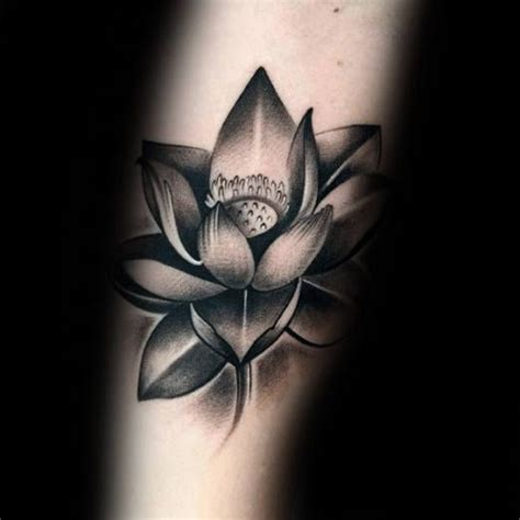 black and grey flower tattoo designs lotus images designs