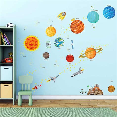 wandtattoo kinderzimmer planeten wandsticker planeten sonnensystem weltraum wandsticker