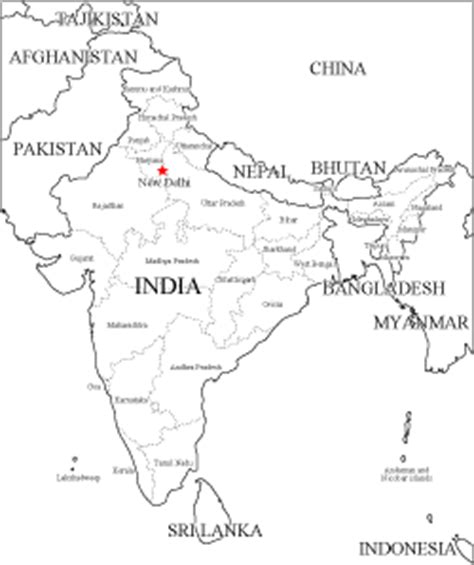 printable version of india map blank map of the india social studies pinterest maps