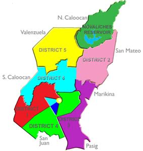 san francisco quezon city map districts 1 3 quezon city great green growing