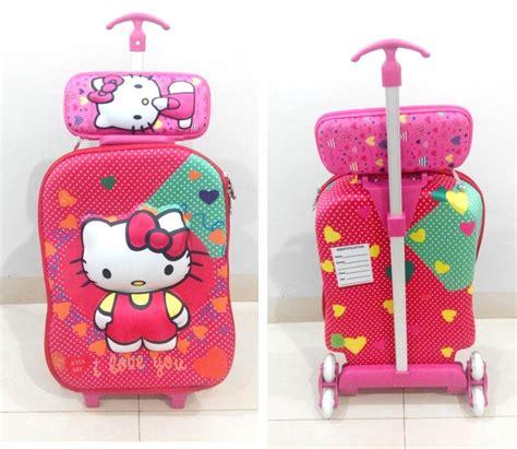 Bag 2in1 Hello tas trolley 3d anak sekolah katalog 5 grosirimpor