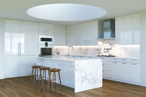 waterfall kitchen islands trending kitchen design