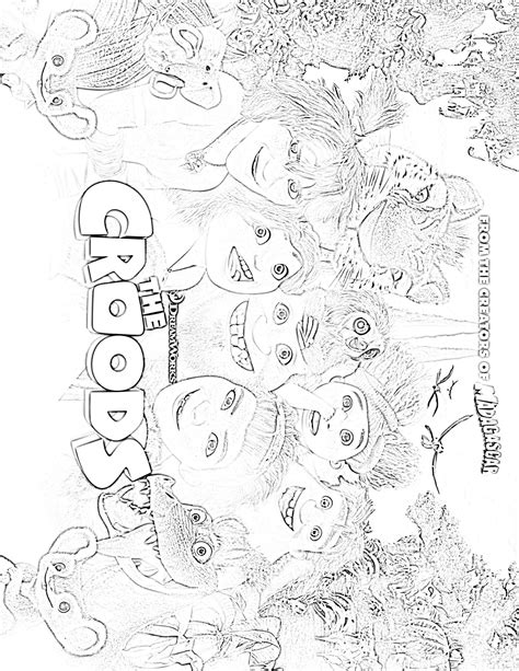The Croods Coloring Pages Croods 1 Coloringcolor Com by The Croods Coloring Pages