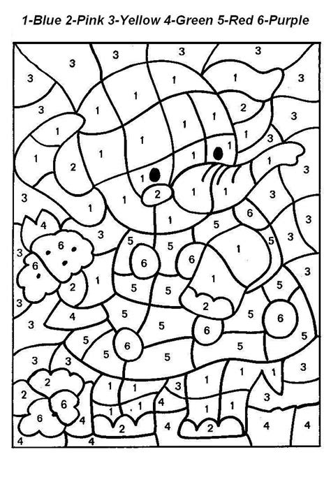 color numbers free printable color by number coloring pages best
