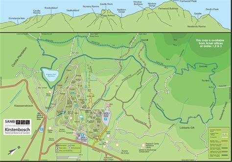 Botanical Gardens Map Kirstenbosch Gardens Map Garden Ftempo
