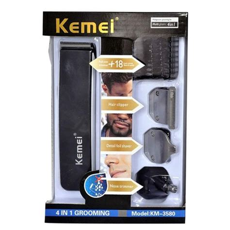 Kemei Rechargable 8 In 1 Grooming Kit Shaver Clipper Hair Km 680a kemei km 3580 4 in 1 rechargeable professional grooming kit black