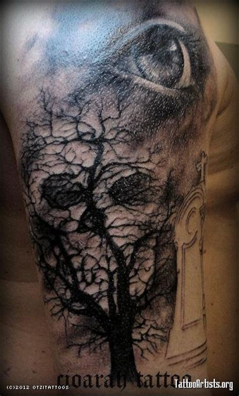 skull tree tattoo tree and skull graveyard