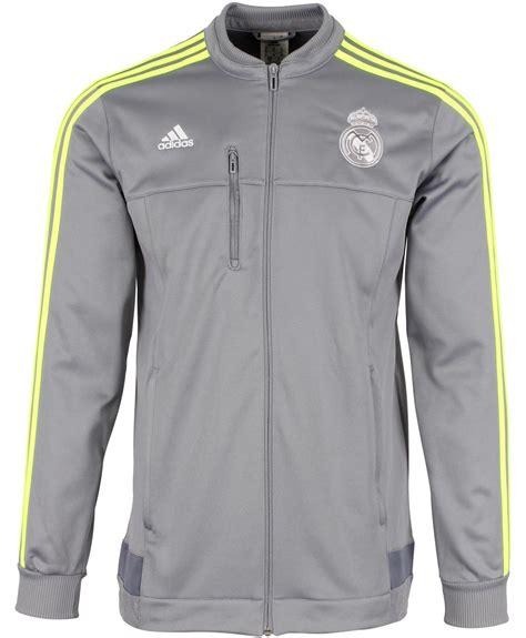 Jaket Windcheater Black Real Madrid anthem real madrid adidas jacke jacket grau 2015 16 herren ebay
