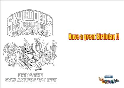 printable birthday cards skylanders free printable skylanders birthday cards party