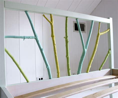 ikea bed frame hack ikea hack painted branch bed frame 2