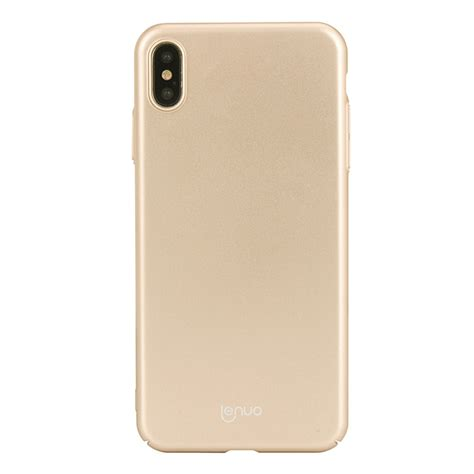lenuo leshield series ultra thin pc for iphone xs max gold alexnld