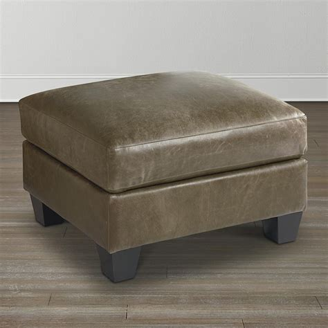 bassett leather ottoman bassett 3101 01l ellery ottoman discount furniture at