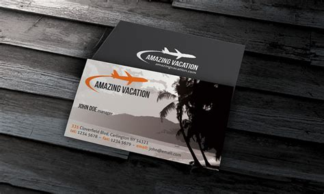 free business card templates for travel agency idyllic vacation business card template 187 free