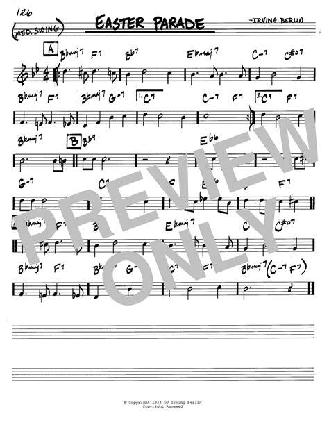 printable lyrics to easter parade easter parade sheet music direct