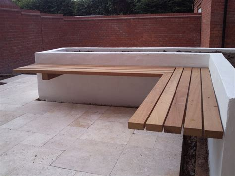 outdoor corner bench seating how to build a floating bench construction methods