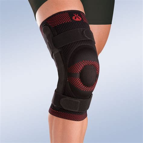 luxating patella brace closed patella knee brace w silicone pad and polycentric reinforcements orliman