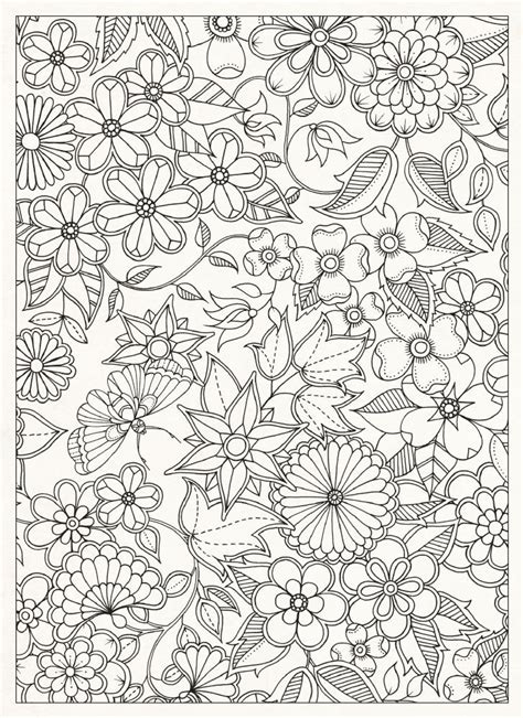 secret garden colouring book size free coloring pages of johanna basford