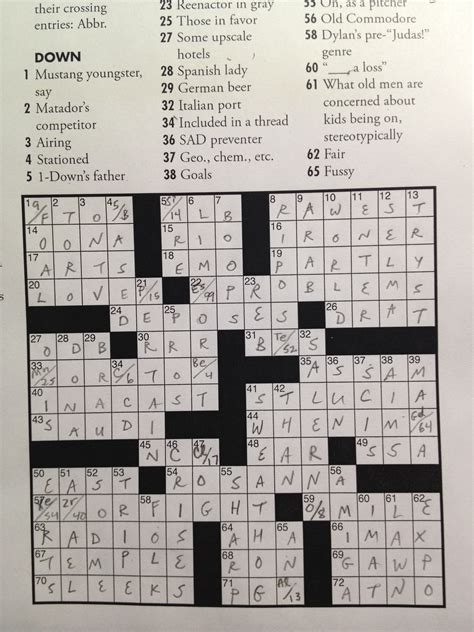 Of The Table Crossword by The 2013 Orca Awards