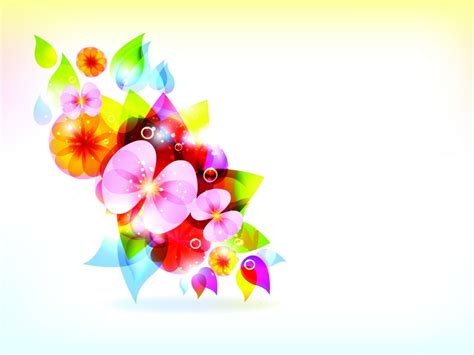 Colorful Flowers Backgrounds Beige Black Blue Brown Flowers Green Grey Multi Color Colorful Powerpoint Templates