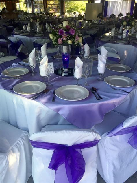 purple table overlays 26 best images about purple weddings park place on
